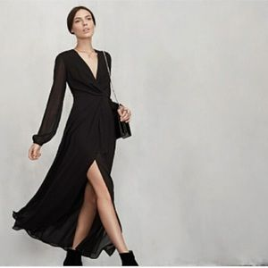 NWT Reformation Keplar dress black size 4